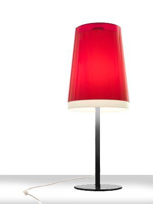 lampe i rød til bord