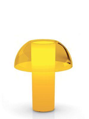 Bordlampe i gul