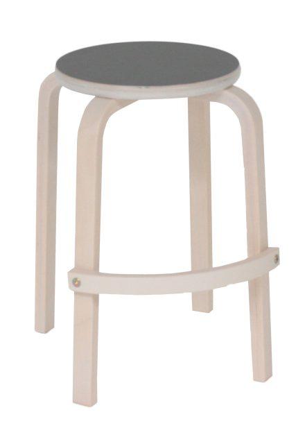 Lux taburet hvidpigmenteret