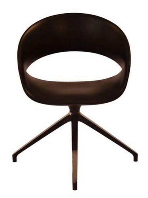 Spot gæstestol i sort pur
