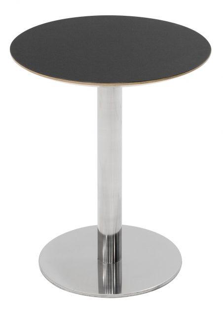Café bord med Inox søjle