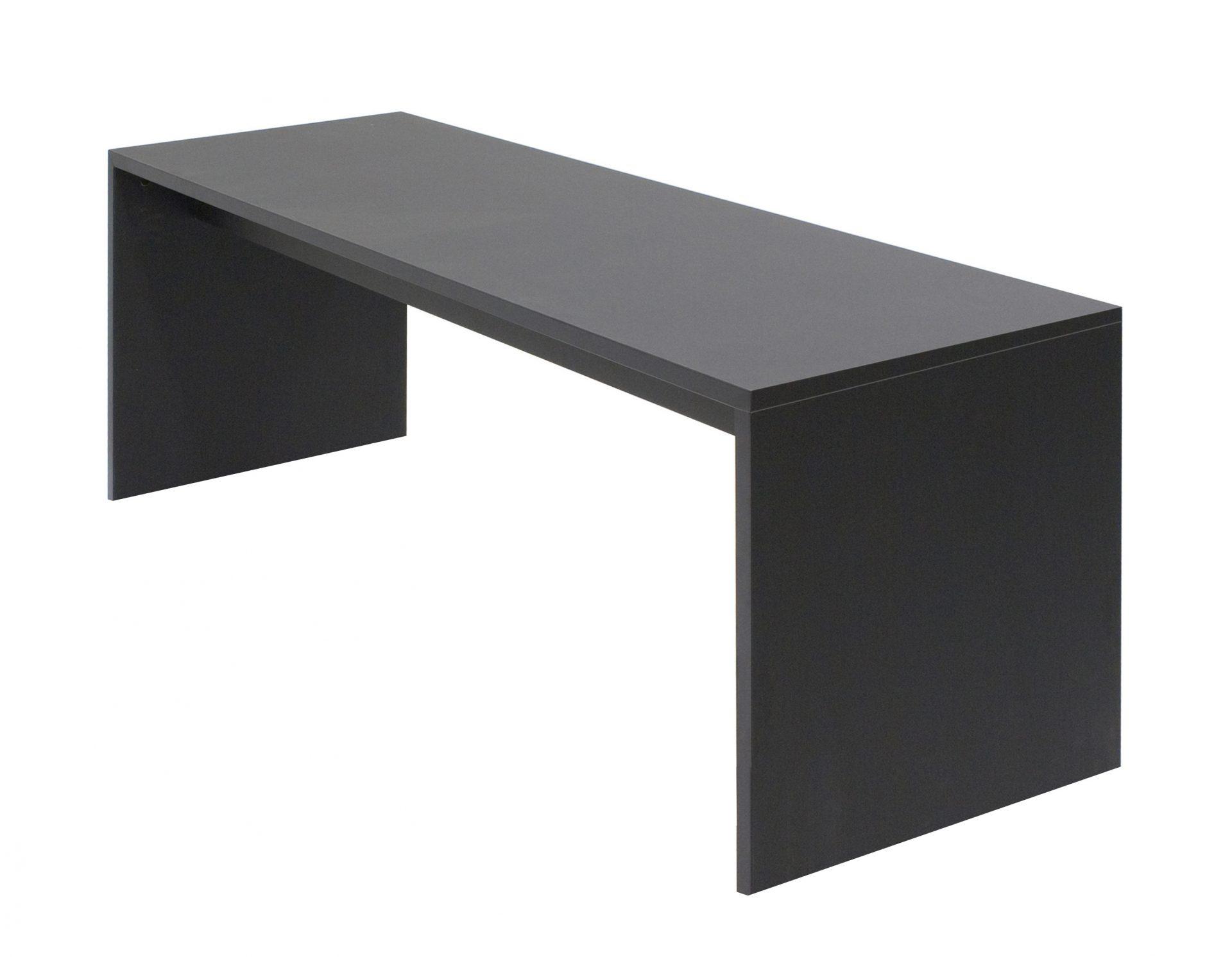 Gavl bænk i sort laminat eller linoleum - kan laves i størrelse efter ønske