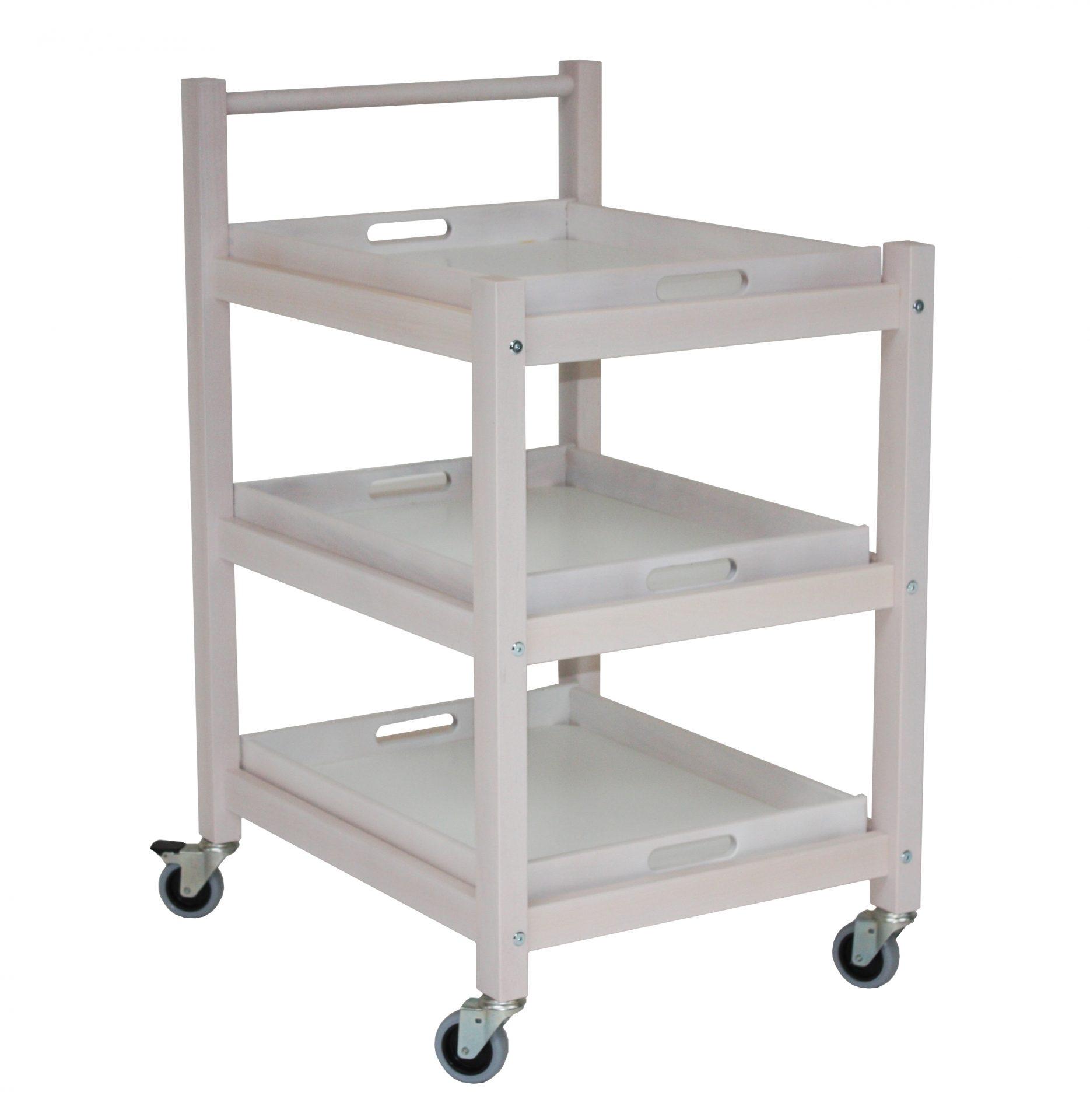 Rullebord - serveringsvogn med og uden håndtag