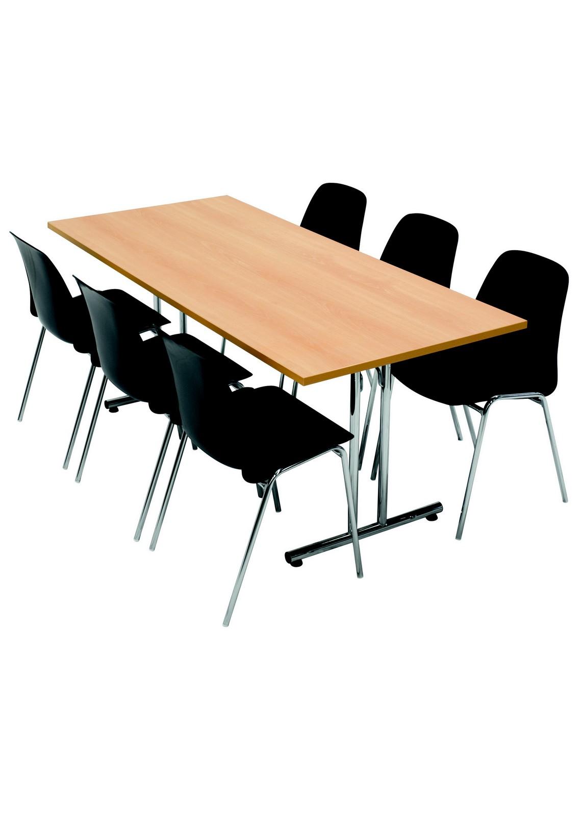 Selena stol med klapbord