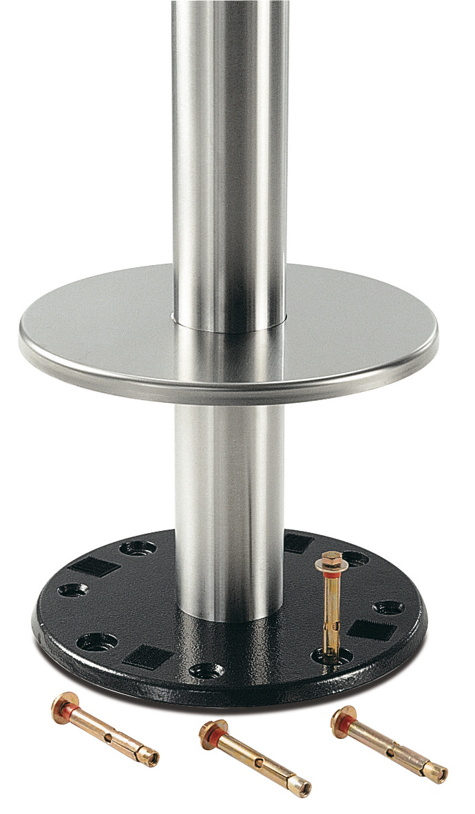Permanent søjleunderstel til gulvmontering