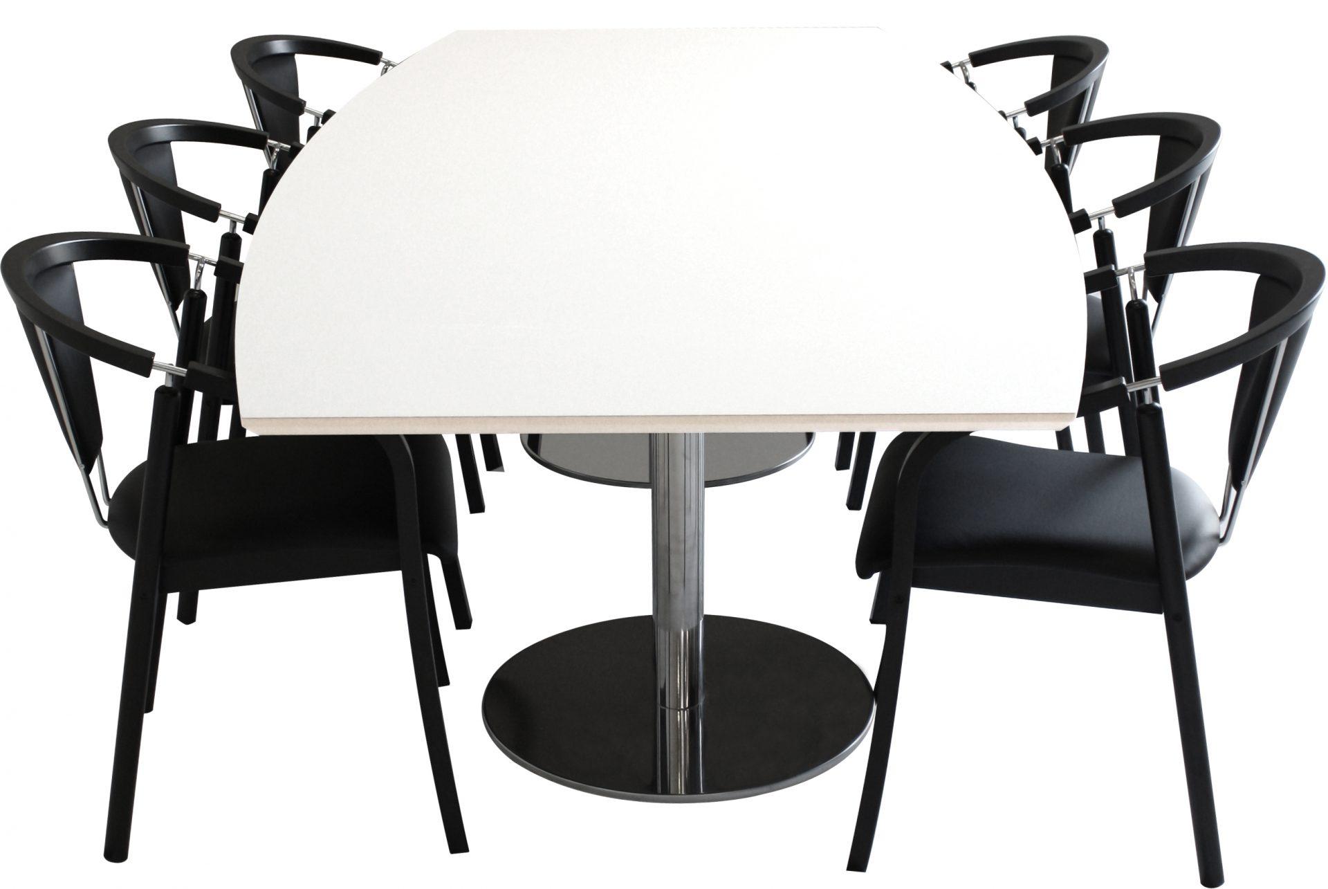 Anna konferencestol ved bådformet mødebord